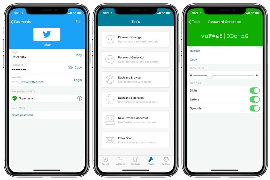 Dashlane Mobile App