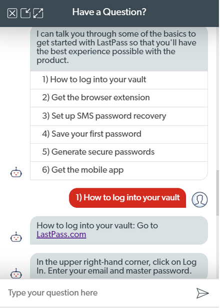 LastPass Chatbot