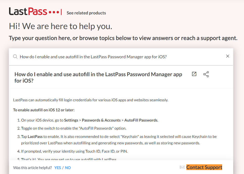 LastPass Email Support