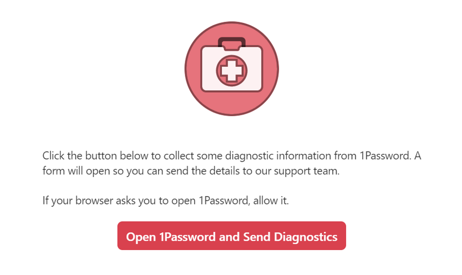 1Password Diagnosis Tool
