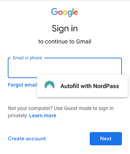 NordPass Auto-fill on Mobile Devices