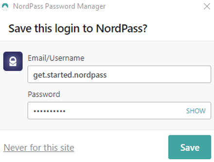 Auto-save Login Credentials to Your NordPass Vault