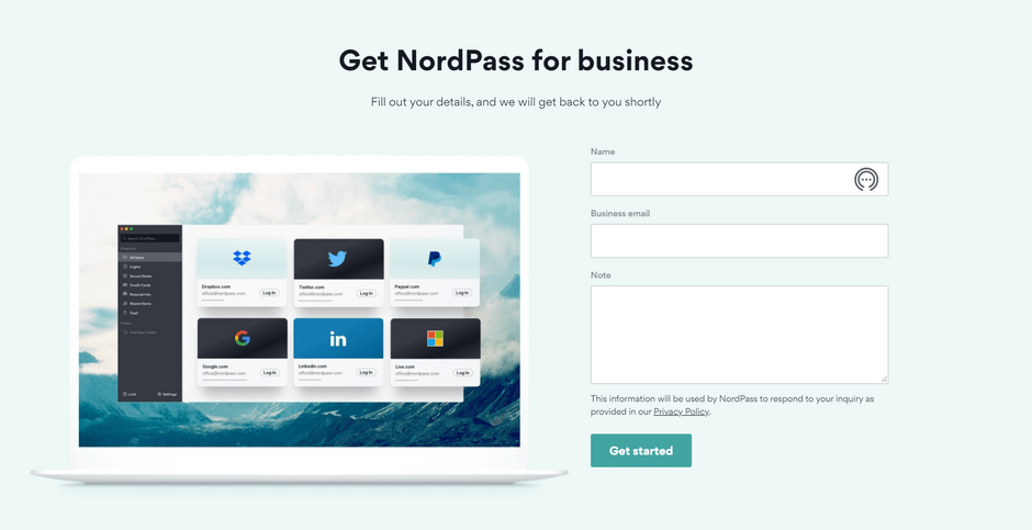 NordPass Business Plan