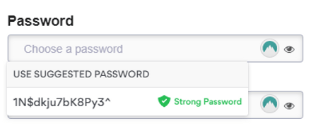 NordPass Suggested Passwords