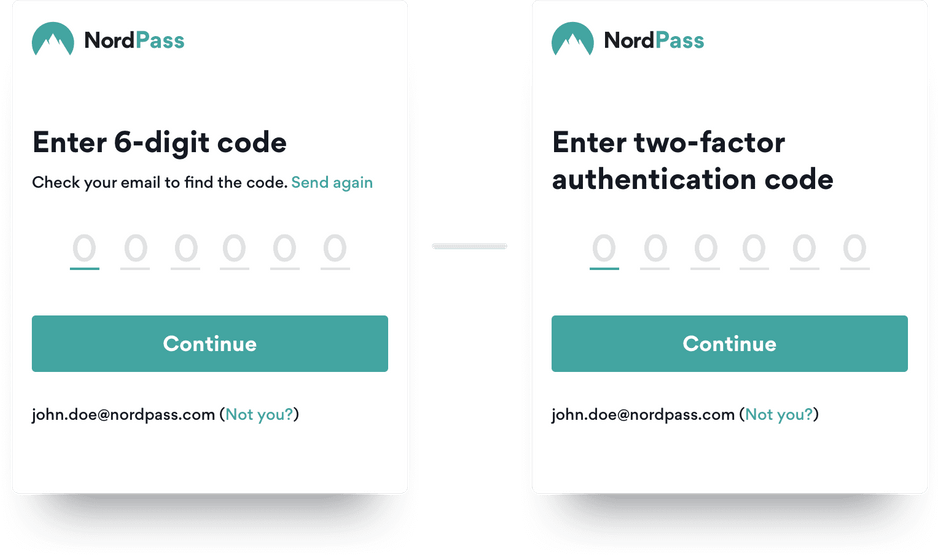 NordPass Two Factor Authentication