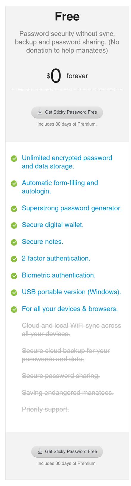 Sticky Password Free Plan