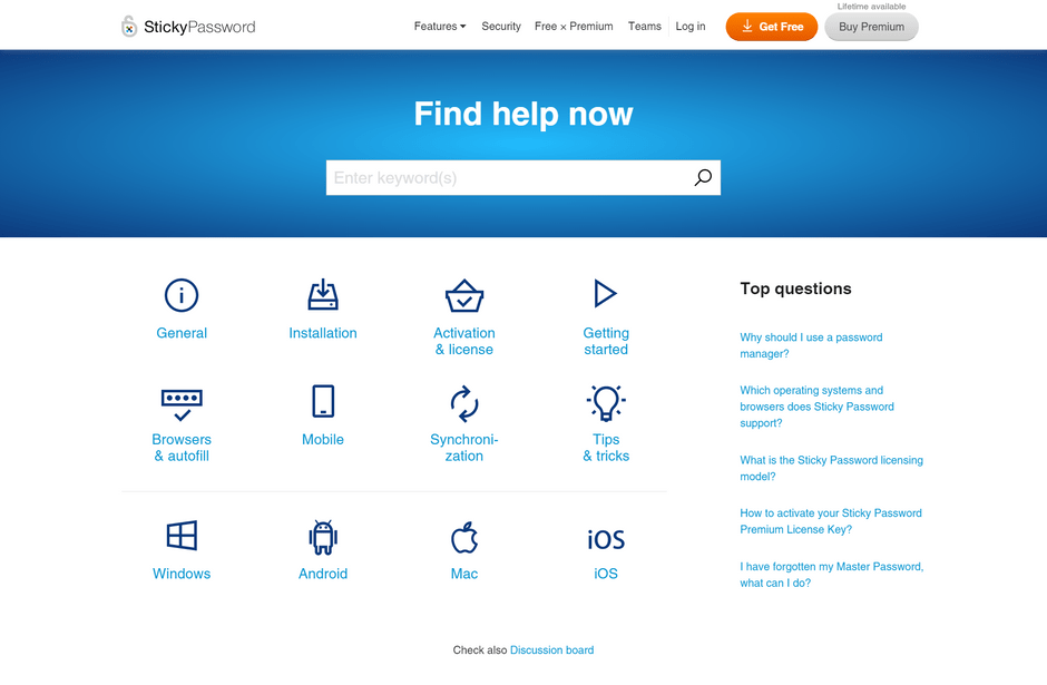 Sticky Password Help Center