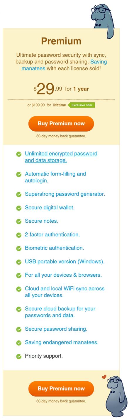 Sticky Password Premium Plan