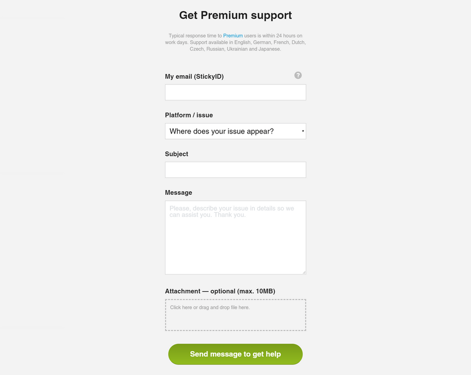 Sticky Password Premium Email Support