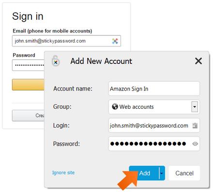 Sticky Password Saving New Login