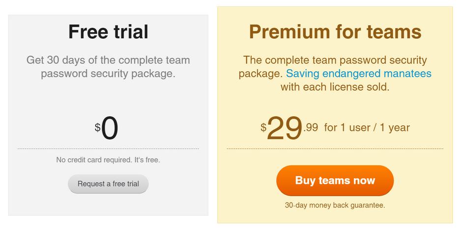 Sticky Password Teams Plan
