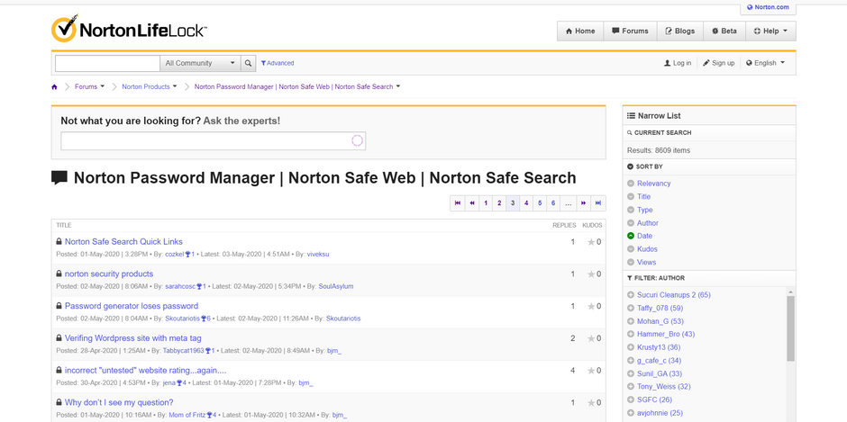 Norton Password Manager Community Forum