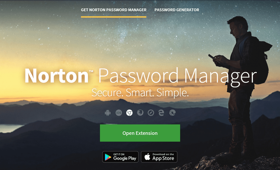 Norton Password Manager Extensions and Apps