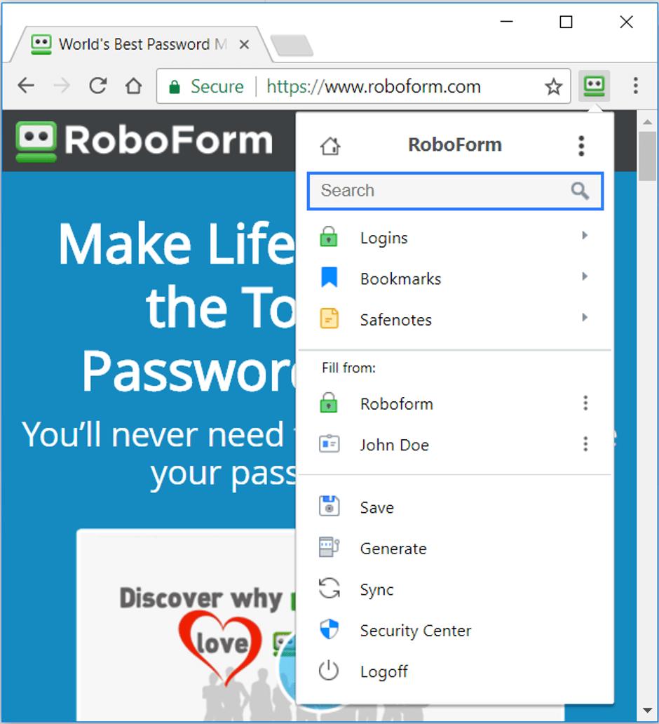 RoboForm Browser Extension